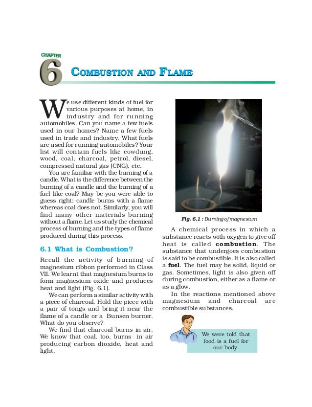 COMBUSTION                AND      FLAMEW          e use different kinds of fuel for          various purposes at home, in...