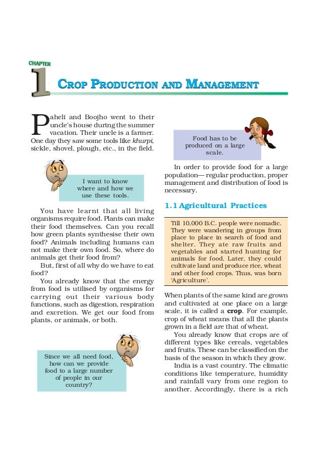 8   crop production and management
