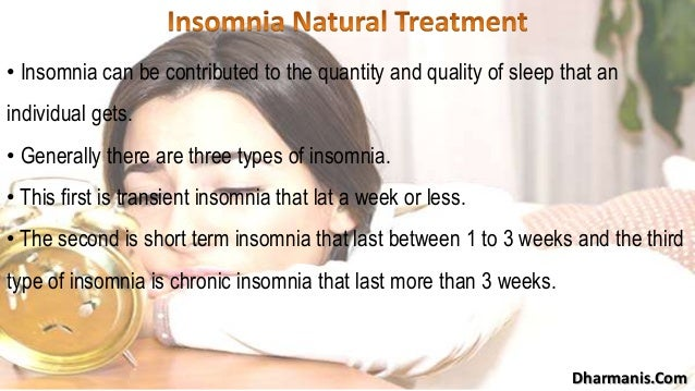 How to treat insomnia naturally