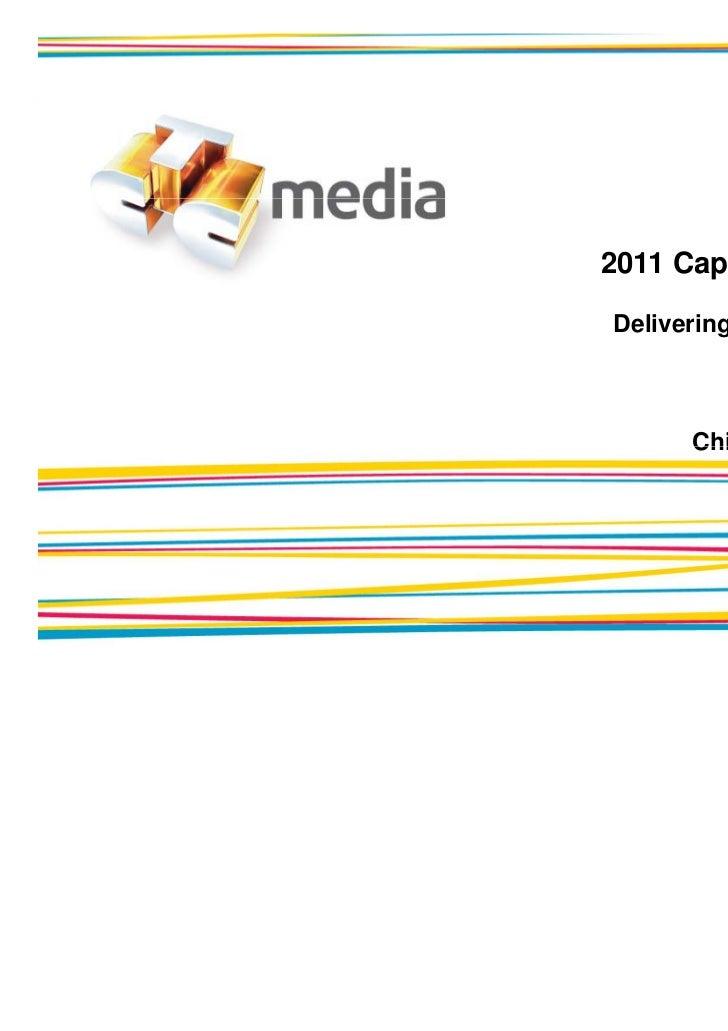 Capital Markets Day 2011 Delivering Shareholder Value