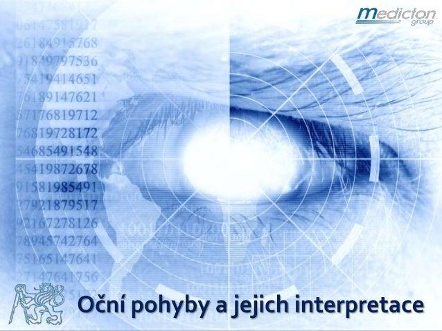 Oční pohyby a jejich interpretace - Vratislav Fabián
