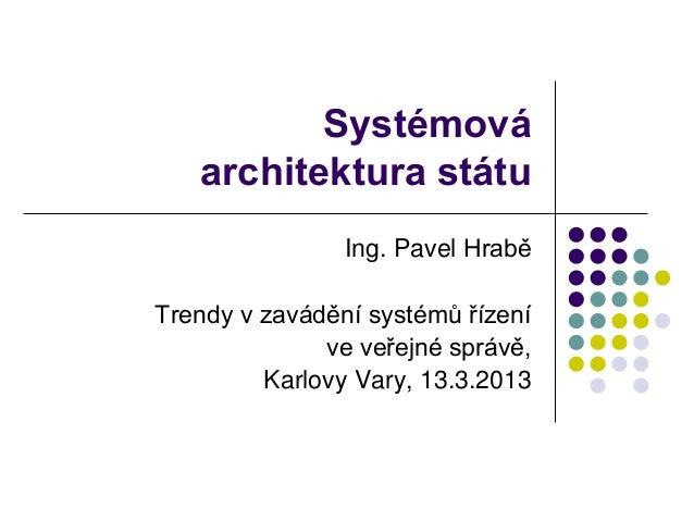 Systémová architektura státu