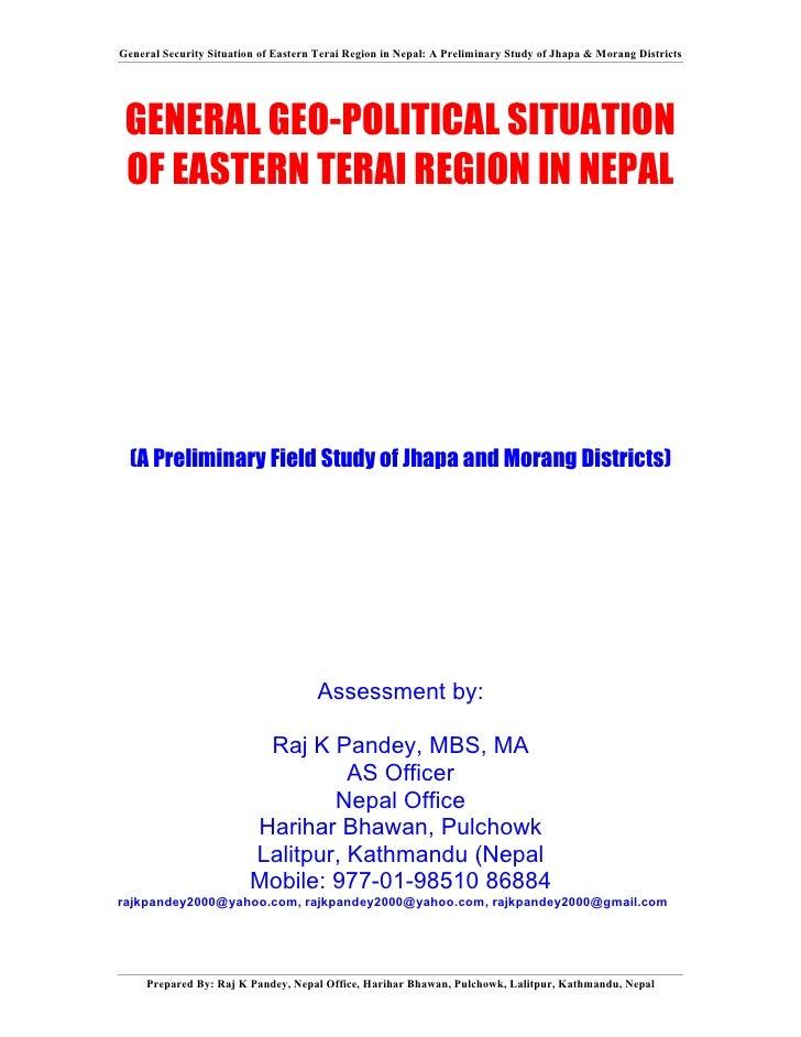 8 geopolitics of terai conflict-why