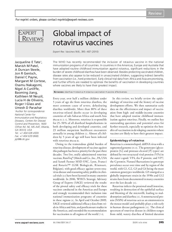 Review    For reprint orders, please contact reprints@expert-reviews.com                                   Global impact o...