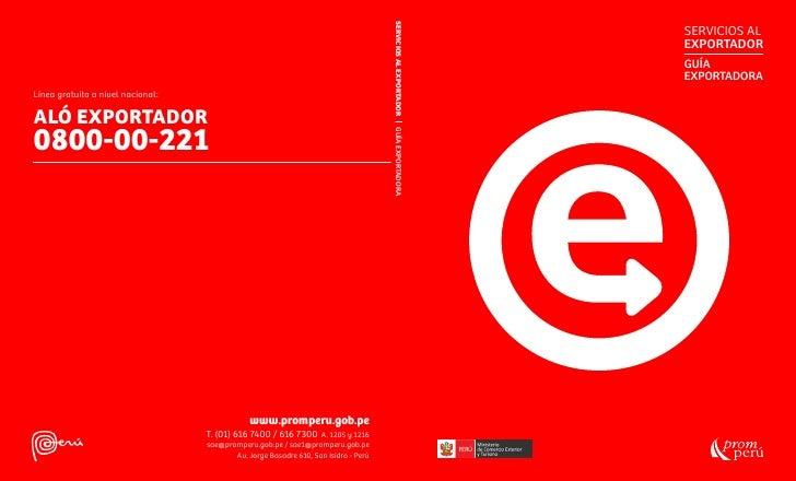 Guía Exportadora 2012 Perú