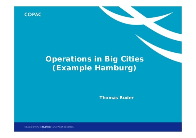 1. Título de sección Operations in Big Cities (Example Hamburg)  Thomas Rüder  Jornadas Técnicas de Helicópteros: Operacio...