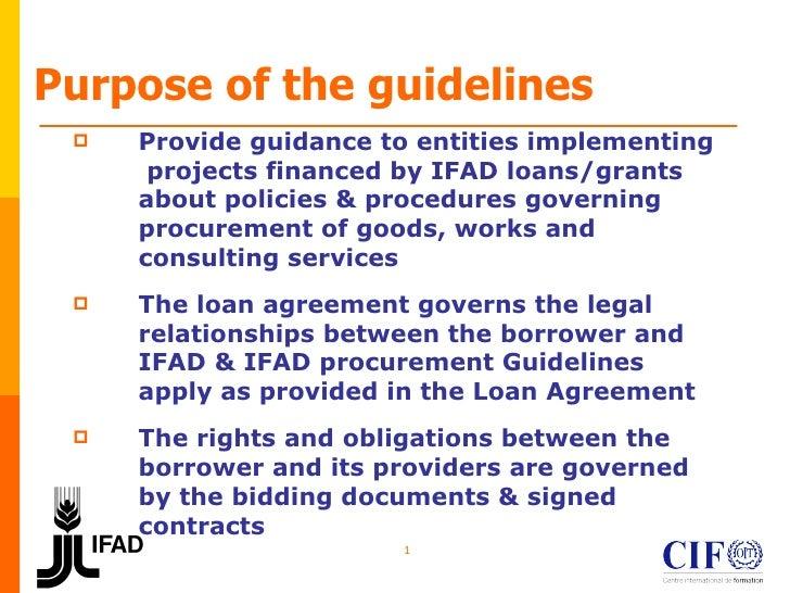 IFAD procurement guidelines