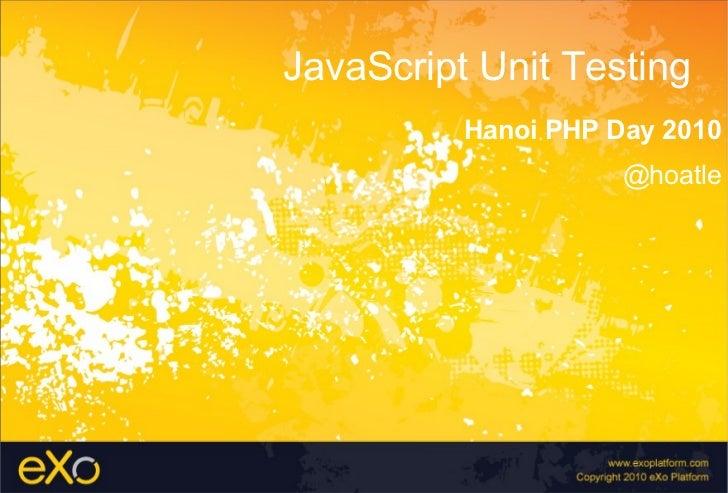 java script unit testing framework