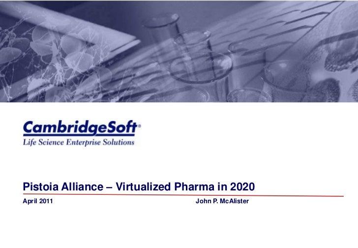CambridgeSoft -- Virtualized Pharma in 2020