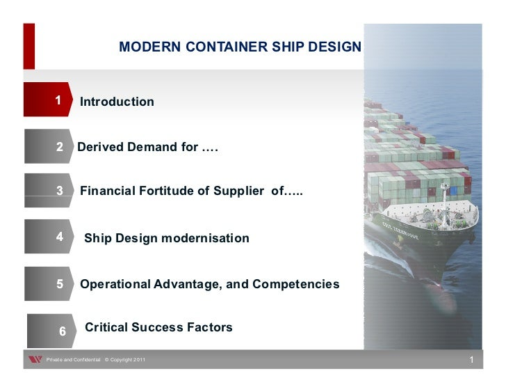 MODERN CONTAINER SHIP DESIGN   1         Introduction    2       Derived Demand for              .    3        Financial F...