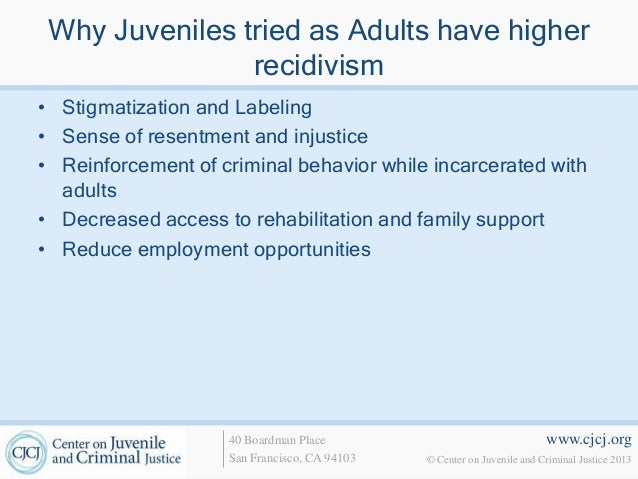 "juvenile offenders should not be tried as adults essay This is an essay that i wrote for my juvenile offenders tried as adults: the articles ""little adult criminals"" and ""should juvenile offenders be tried."