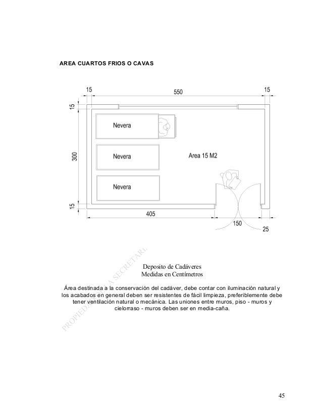 8 manual para el diseno de los servicios generales for Cuarto frio cocina