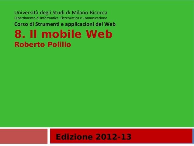 8. Mobile web