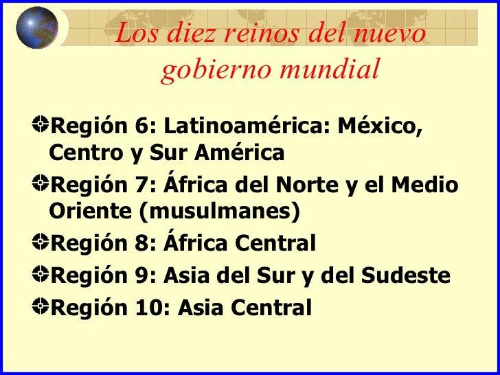 Resultado de imagen para diez regiones economicas nuevo orden mundial