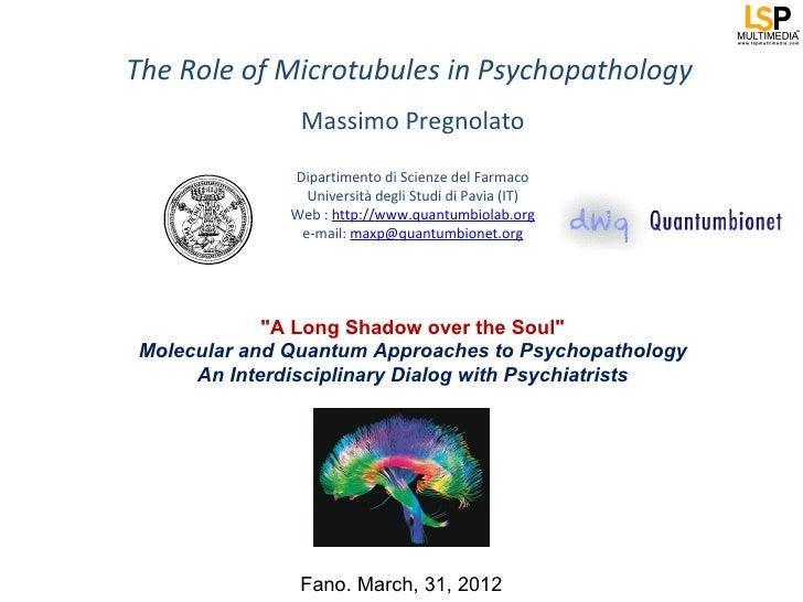 The Role of Microtubules in Psychopathology               Massimo Pregnolato              Dipartimento di Scienze del Farm...