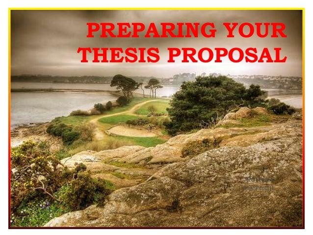 Preparing a thesis
