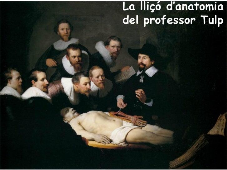 La lliçó d'anatomiadel professor Tulp