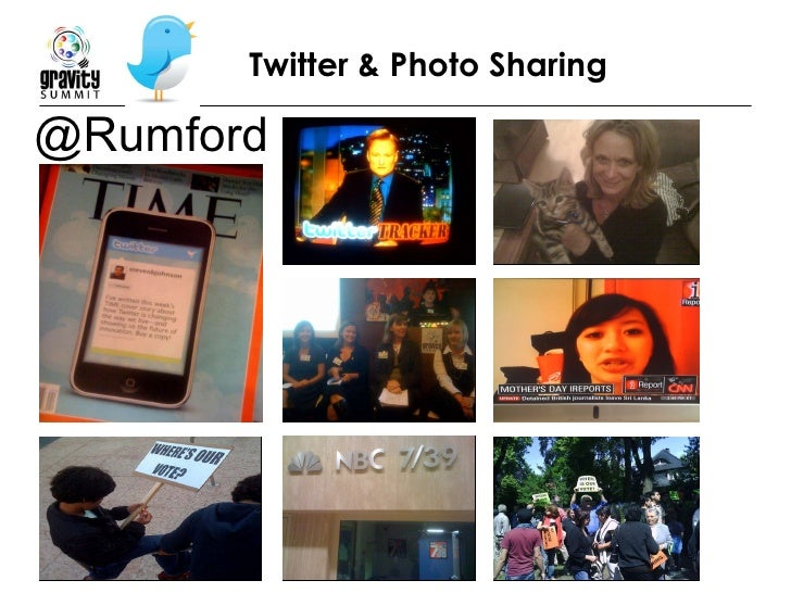 Twitter & Photo Sharing @Rumford