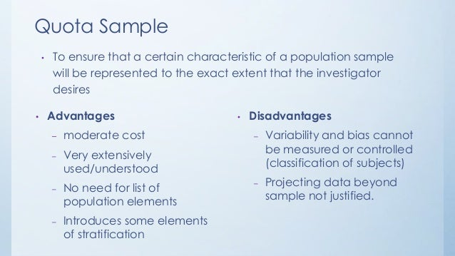 disadvantages of sampling in research What are the merits and demerits of purposive sampling method as used in statistics this method of sampling is also known as subjective or 'judgment sampling.