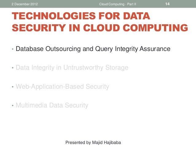 Security in cloud computing thesis