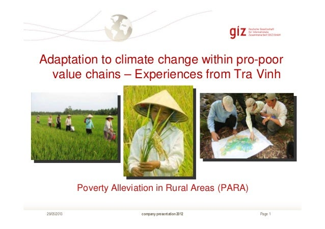 Page 1company presentation 201229/05/2013Poverty Alleviation in Rural Areas (PARA)Adaptation to climate change within pro-...