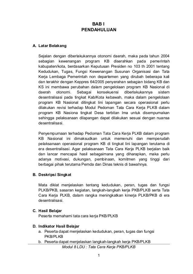 8. tata cara kerja plkb