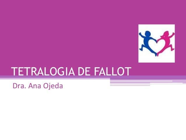 TETRALOGIA DE FALLOTDra. Ana Ojeda