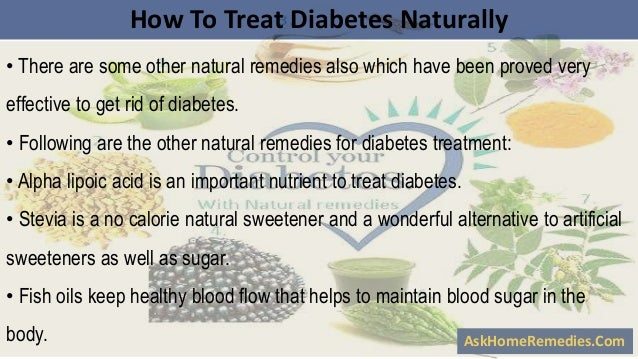 How to treat diabetes naturally with herbal remedies for Fish oil and diabetes