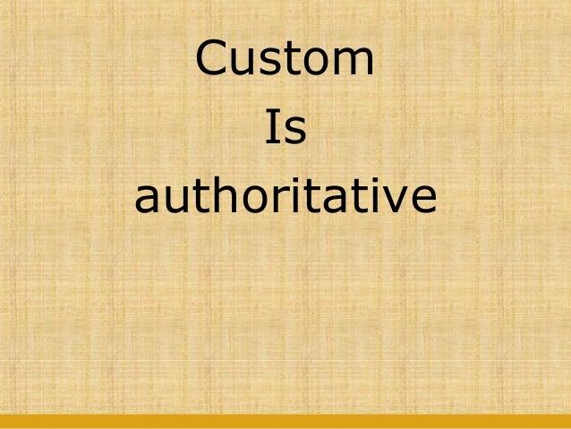 Custom in jurisprudence
