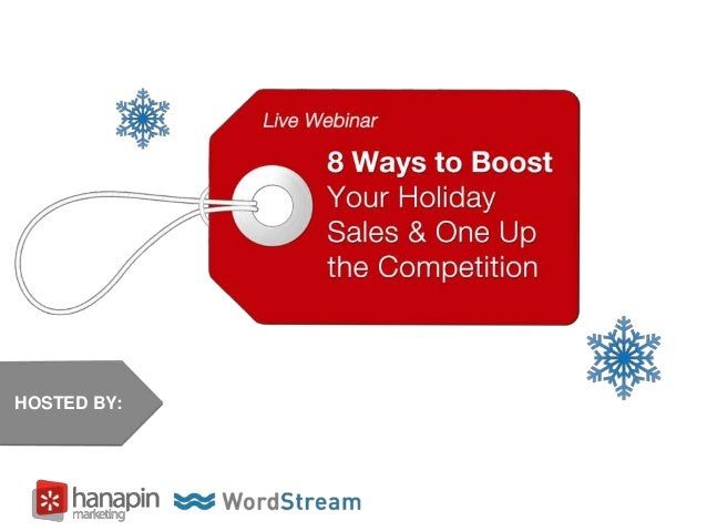 8 Ways to Boost Your Holiday Sales & One Up the Competition [Webinar]