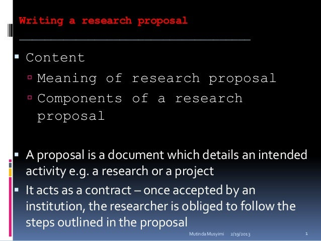tips on writing a research proposal