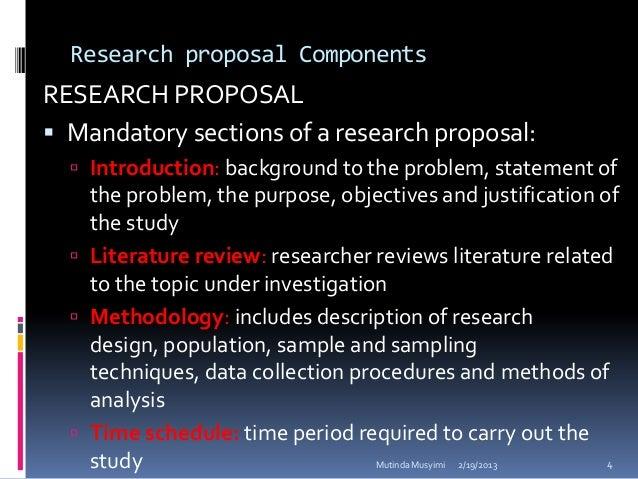 Framework Research Proposal Research Proposal