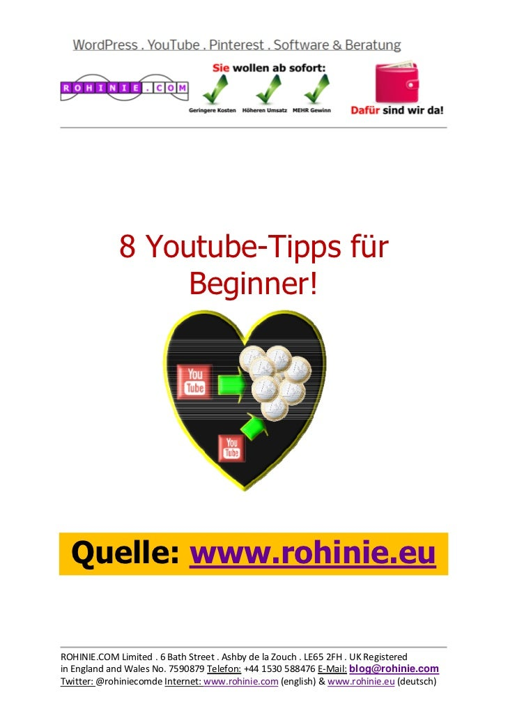 8 Youtube-Tipps ...