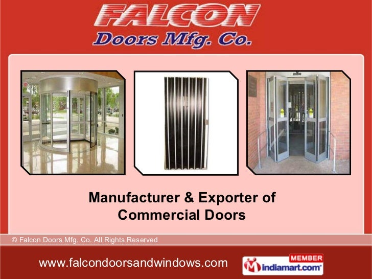 Manufacturer & Exporter of Commercial Doors