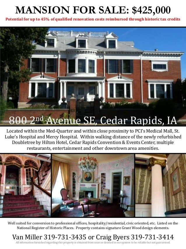 Historic Douglas Mansion for sale - 800 2nd Avenue SE, Cedar Rapids, IA
