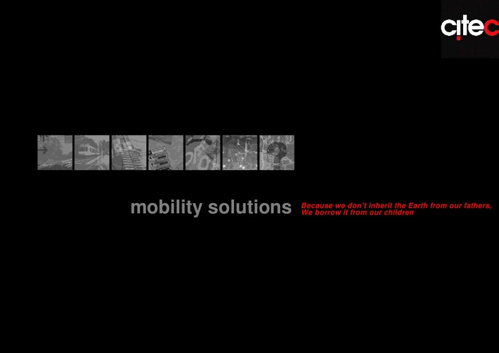 1Mobility solutions                                                               mobility solutions               Because...