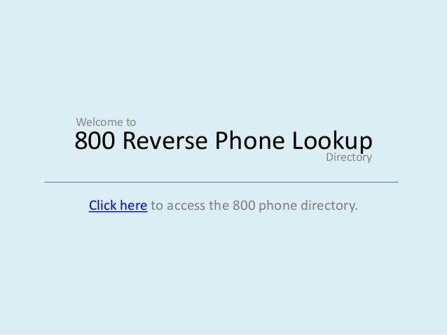 800 phone directory reverse lookup