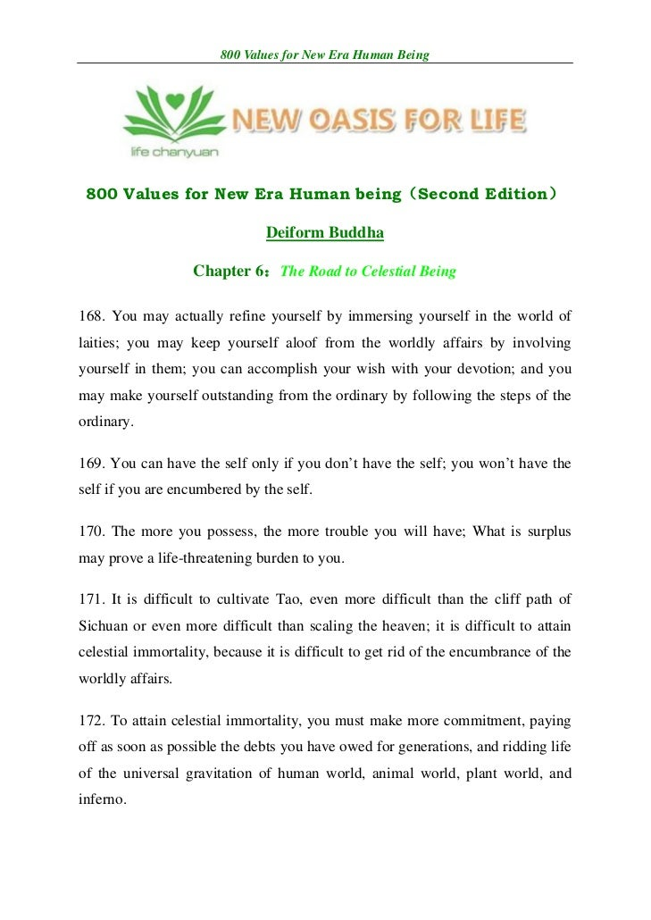 800 Values for New Era Human Being 800 Values for New Era Human being(Second Edition)                               Deifor...
