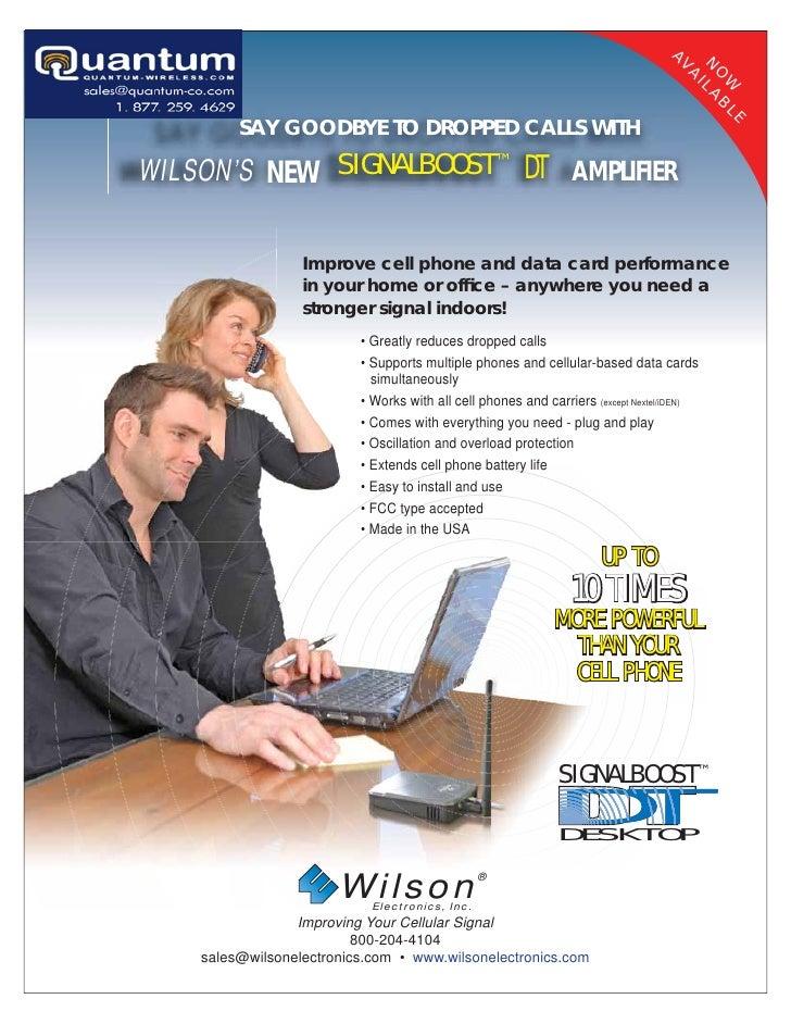 Wilson Dual-Band In-Building Wireless Kit (801247)  Quantum-Wireless.com
