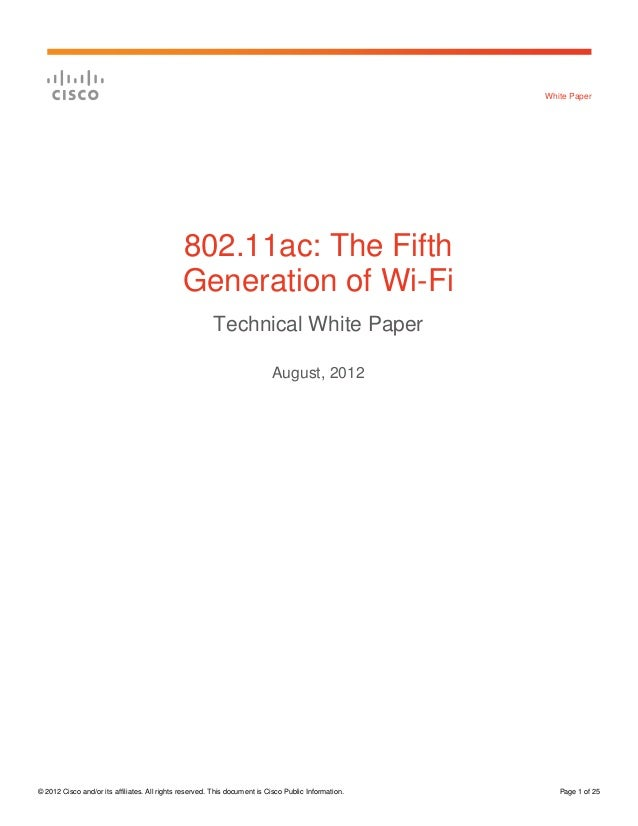 White Paper                                              802.11ac: The Fifth                                              ...