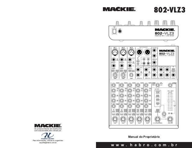 Manual do mixer Mackie 802 VLZ3 (PORTUGUÊS)