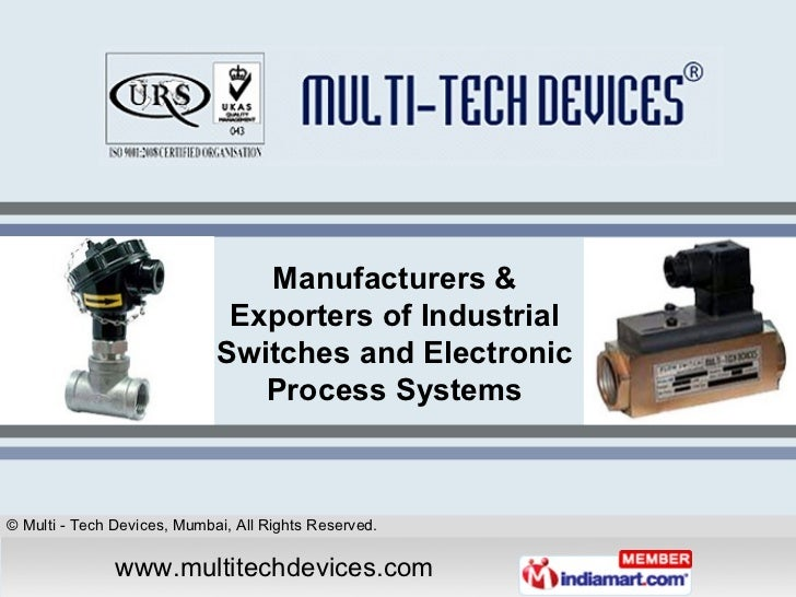 Manufacturers & Exporters of Industrial Switches and Electronic Process Systems