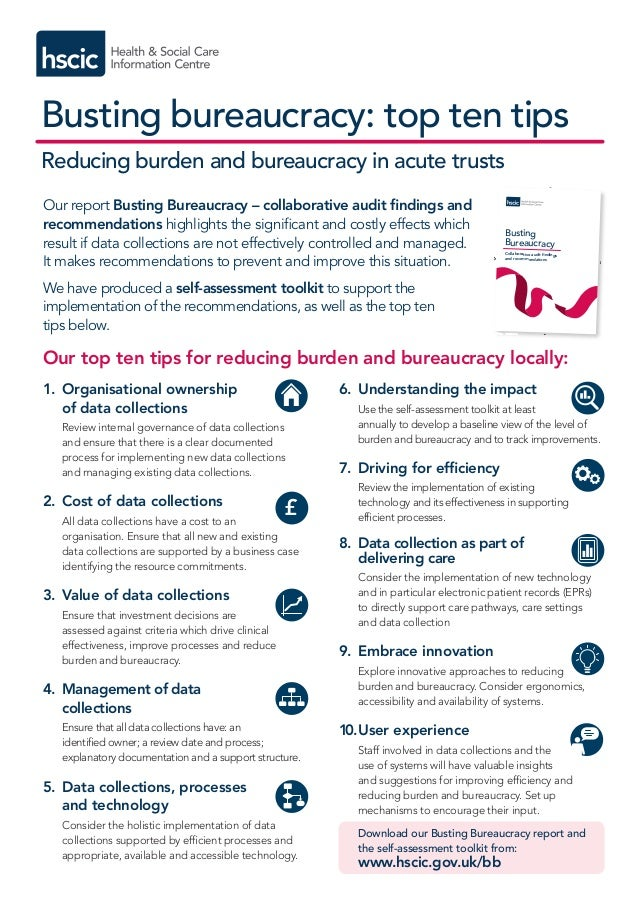 Busting bureaucracy: top ten tips