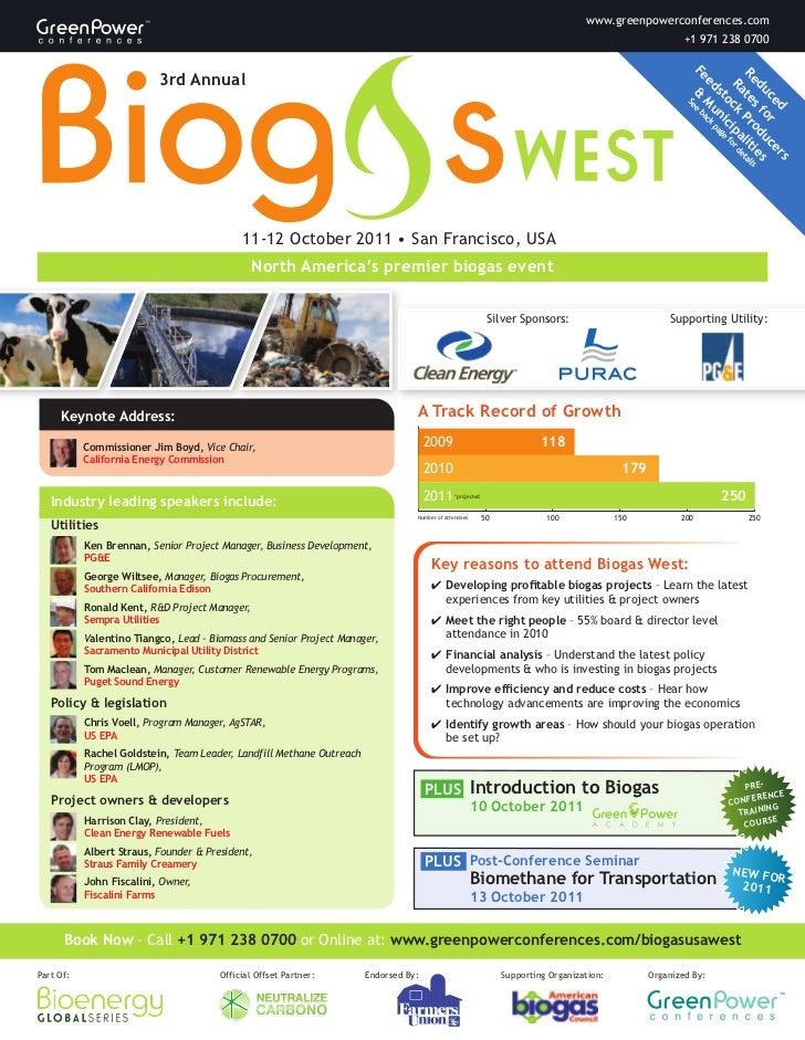 Biogas USA West Brochure Lr