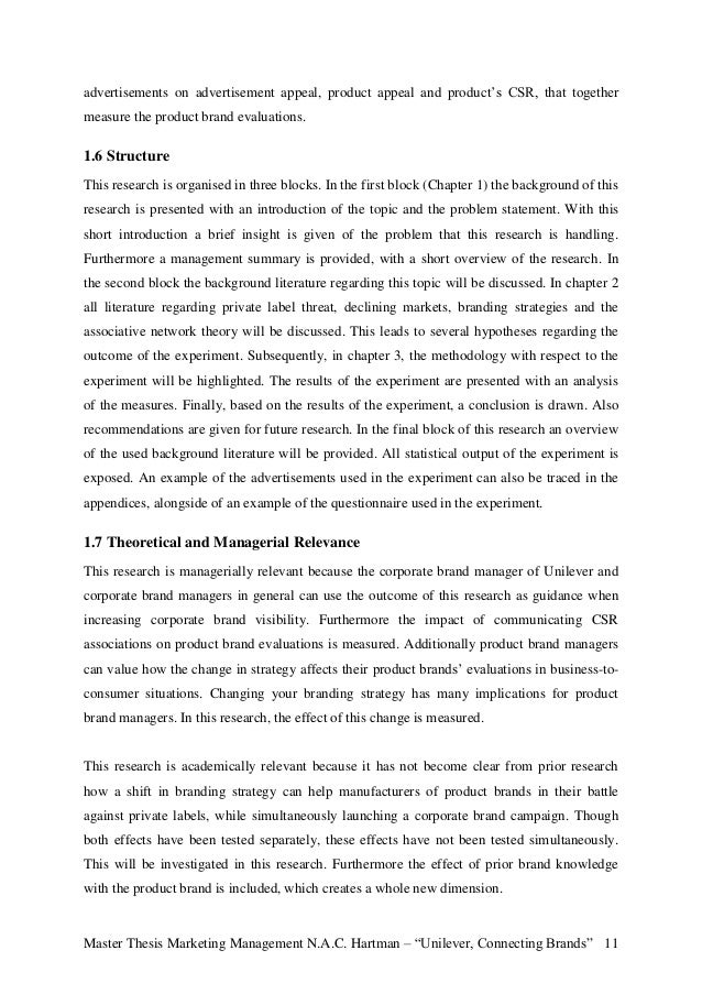 Master thesis marketing management uvt