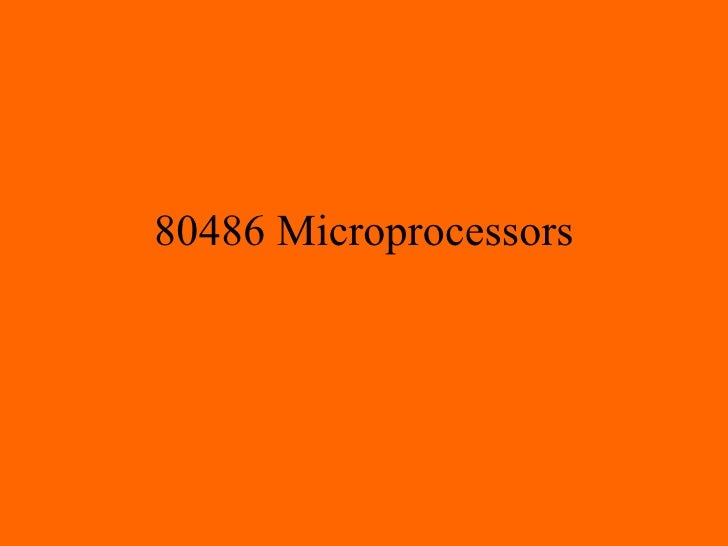 80486 Microprocessors
