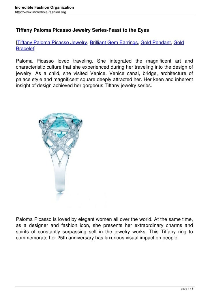 Tiffany Paloma Picasso Jewelry Series-Feast to the Eyes