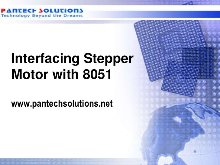 Interfacing Stepper motor with 8051