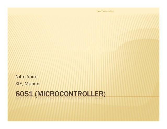 8051 (microcontroller)class1
