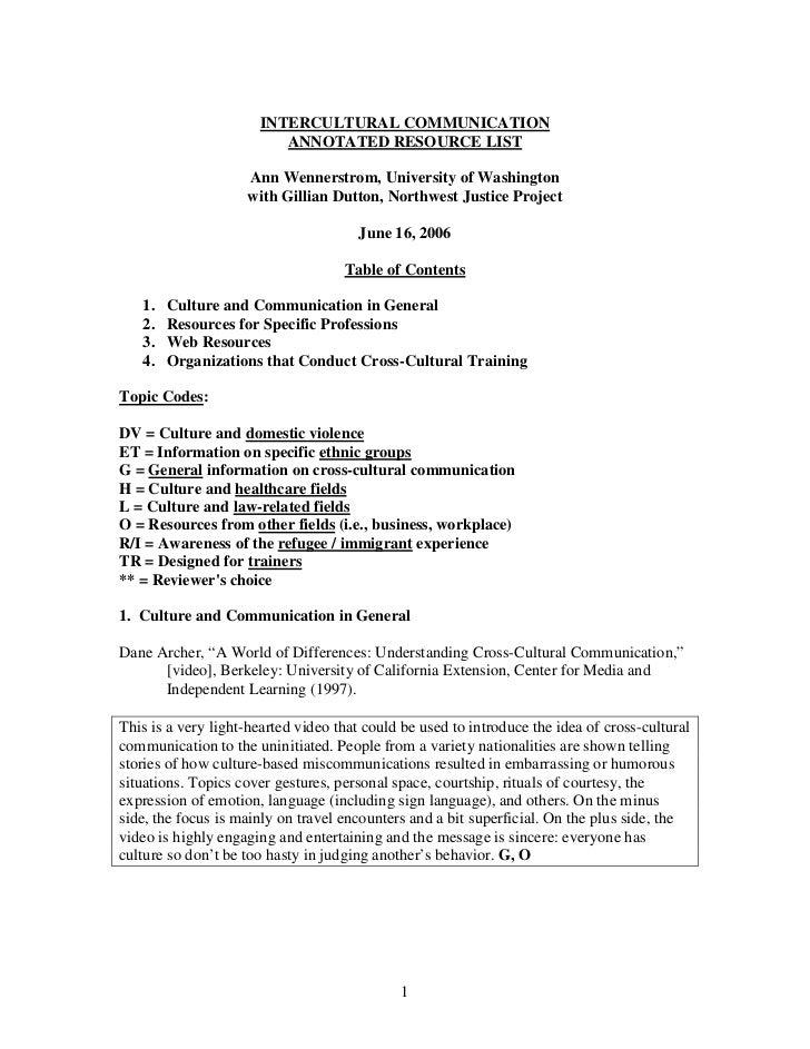 Intercultural communication essay topics